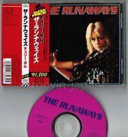 THE RUNAWAYS debut The Runaways JAPAN CD PHCR-4174 w/OBI Joan Jett Cherie Currie