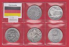 GIRO Di 5 p 10 Mark MARCHI 1972 Silver Germania Argento OLIMPIADI MONACO ZECCA G