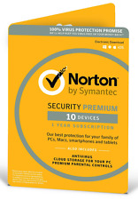 Symantec Norton Security Premium 3.0 25gb 1 User 10 Devices - Electronic Software Download