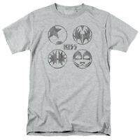 KISS PAINT CIRCLES Licensed Adult Men's Graphic Band Tee Shirt SM-5XL
