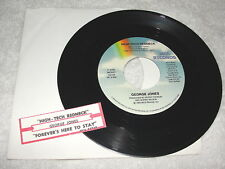 """George Jones """"High-Tech Redneck / Forever's Here To Stay"""" 45 RPM,7"""",VG+,+Jukebox"""