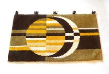 60S ORIGINAL ABSTRACT WOOL WALL CARPET RUG CUBIST GEOMETRIC VINTAGE MID CENTURY