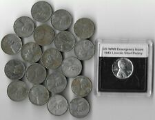 🔥 Rare Old WWII US Collection Steel Penny USA WW2 20 Coin Cent Vintage War Lot