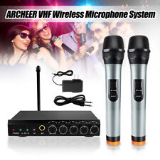 ARCHEER VHF Wireless Bluetooth Microphone System W/ 2 Handheld Mic For Home KTV