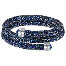 Swarovski Crystaldust Blue 5237752 Double Bangle Size M RRP$129