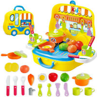 Plastic Pretend Role Play Food Chef Kitchen Cooking Set Educational Toy Gift UK
