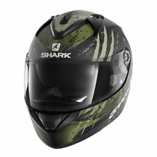 Caschi termoplastici verdi marca Shark per la guida di veicoli
