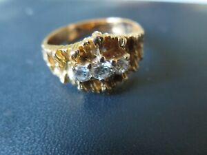 Unikat Ring  18 K Gold  Gelbgold , 3  Brill. ..Handarbeit
