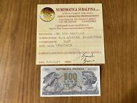 REPUBBLICA BANCONOTA LIRE 500 ARETUSA 20 6 1966 certificata SUP