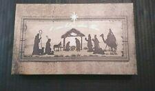 Sagebrush Fine Art Canvas Wall Plaque Christmas Xmas Religious Nativity Decor