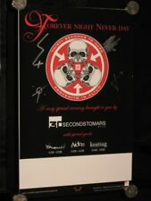 30 SECONDS TO MARS - HAND SIGNED ( FOREVER NIGHT NEVER DAY) POSTER