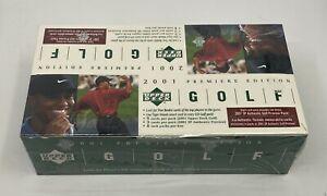 2001 Upper Deck Golf Unopened Sealed Rack Pack Box w/ 8 Packs Tiger Woods RC YR