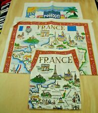 2 Tea Towels and apron . Collectable. Lot # 4 French, New Caledonia Sell Charity