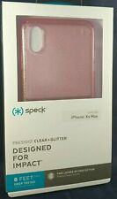 NEW!! Speck Presidio Clear + Glitter Case for Apple iPhone Xs Max - Pink Glitter