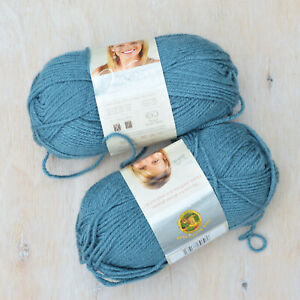 Vanna's Choice Lion Brand yarn, dusty blue acrylic yarn lot of two skeins
