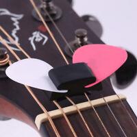 Cute Guitar Accessories 1Pc Black Rubber Guitar Pick Holder Fix On Headst WGBDA