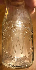 Vintage Half Pint Glass Milk Bottle From F.A. Wilson Dairy Of Lexington N.C.
