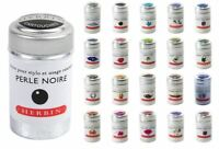 J Herbin Fountain Pen Ink Cartridges - Tin of 6 Refills - 20 Colours Available