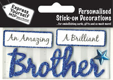 Blue Brother DIY Greeting Card Toppers Personalise Handmade Cards Yourself