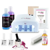 Mylee Nail Kit UV Dryer Lamp Soak-Off MyGel Mystery Colour Gel Polish Gift Set