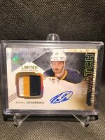 2013-14 UD Sp Authentic Future Watch Auto Patch /100 Rookie Mikhail Grigorenko