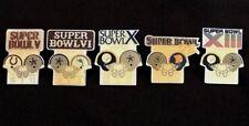 Dallas Cowboys Set of all 5 NFL Super Bowl Starline Collector Pins-Vintage Rare!