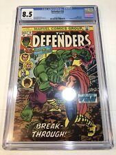 Defenders #10 - CGC 8.5 Marvel 1973 - Classic Hulk vs. Thor Cover!