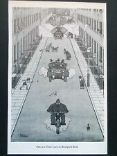 "HEATH ROBINSON CARTOON ""ONE AT A TIME LOCK IN BROMPTON "" OLD PRINT 1975 28x19cm"