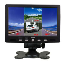 "7"" TFT LCD Color 4 Split Quad Display 4 Video Input Car Rearview Monitor 800X480"