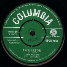 """CLIFF RICHARD AND THE SHADOWS a girl like you/now's the time to… 7"""" WS EX/ wol"""