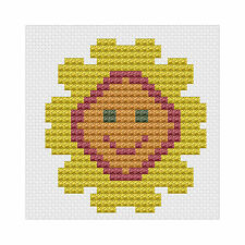 First Counted Cross Stitch Kit with 6 count fabric Sunflower by Florashell