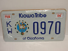 MATRICULA USA OKLAHOMA KIOWA TRIBU RESERVA INDIA REPLICA LICENSE PLATE