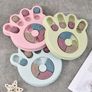 Dog Puppy Puzzle Toy Food Feeder Treat Dispenser Interactive IQ Training Plate