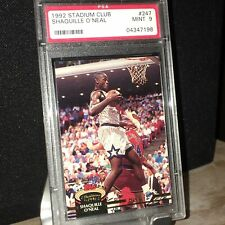 1992-93 Stadium Club, Shaquille O'Neal #247, RC, MINT, PSA 9, Hall of Fame! SHAQ