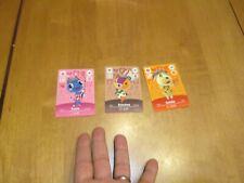Animal Crossing Amiibo Festival LOT 3 Cards Series Goldie Rosie & Stitches NEW