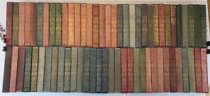Lot of 65 vintage Everyman's Library 1900 Darwin, Pepys, Swift, Fielding, Boswel