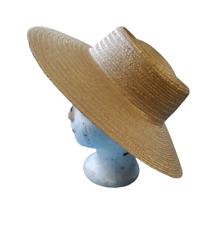 Ancien grand Chapeau de Femme paille France Paris Mode chapellerie garden