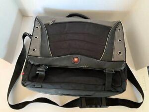 SWISSGEAR Computer Laptop Messenger Bag Carrying Case Gray Black 16 Inch Bag