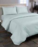 100% EGYPTIAN COTTON DUVET QUILT COVERS SET SINGLE DOUBLE KING DUCK EGG CHARCOAL