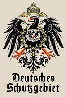 Deutsches Schutzgebiet 4 Blechschild Schild gewölbt Metal Tin Sign 20 x 30 cm