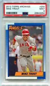 2013 Topps Archives 200 Mike Trout PSA 9 MINT