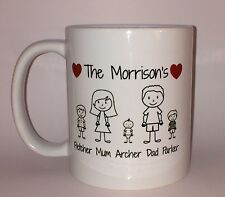 Personalised Family Mug/Cup Gift Valentines Day Mothers Day Birthday