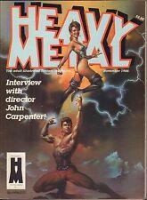 Heavy Metal November 1985  John Carpenter Fantasy Magazine 011417DBE2