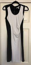 NWOT Kenneth Cole New York White & Black Dress Slimming Silhouette Size 4 UK 8