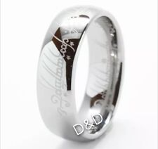 7mm Lord of Rings Silver Men's Tungsten Carbide Wedding Band Ring Size 8-12