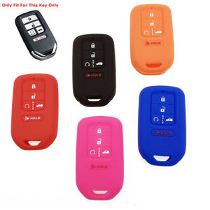 Car 4+1 Buttons Silicone Key Fob Cover Case Shell For Honda Accord Civic Pilot