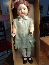 "VINTAGE 1920 27"" IDEAL COMPOSITION DOLL W/ORIG CLOTHES IN ORIG BOX &SHIPPING BOX"