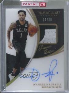 2018-19 Panini Immaculate FOTL Premium Edition /20 D'Angelo Russell Patch Auto