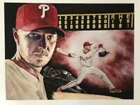 """Roy Halladay """"Perfect"""" LE/100 Giclee Print signed by Artist.  Baseball Hall of F"""