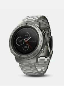 GARMIN Fenix Chronos Multisport, Running Watch W/ Stainless Band 010-01957-02**